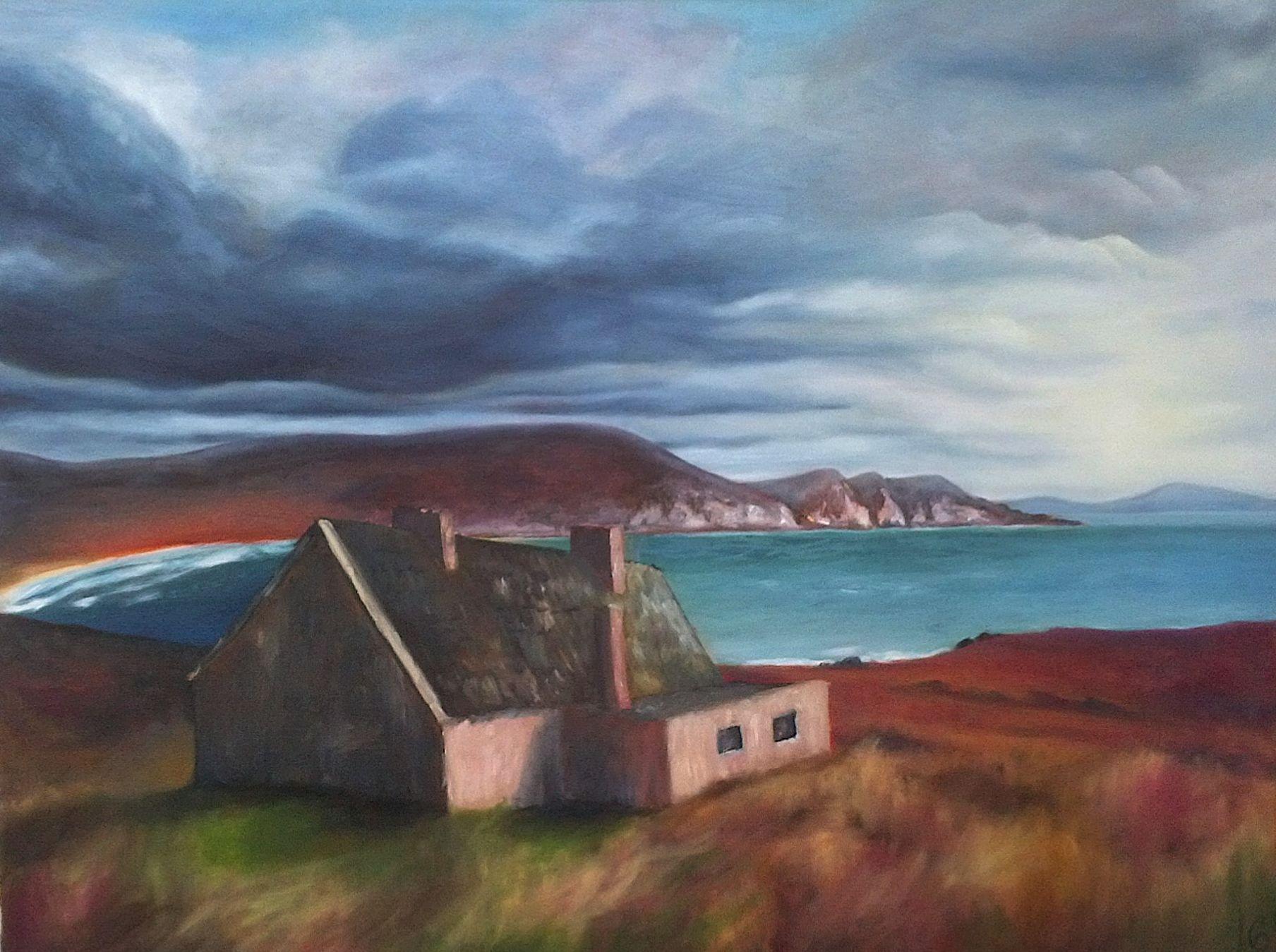 Irische See/ Irish Sea. Öl auf Leinwand/ Oil on canvas. 60 x 80 cm.