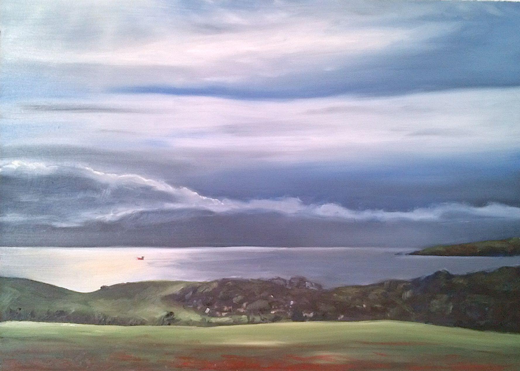 Scottish coast near Montrose. Öl auf Holzpanel, 30 x 40 cm./ Oil on wood panel, 12 x 16 in.