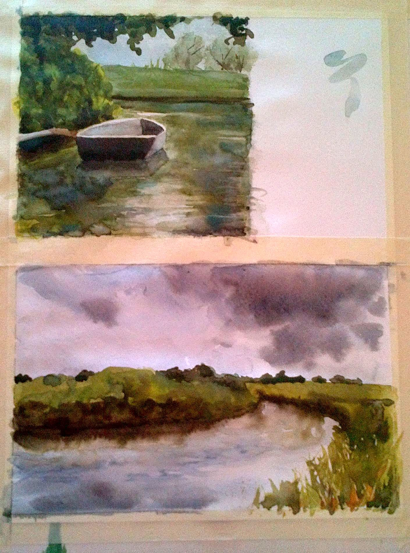 Zweite und dritte Studie/ Second and third mini study in watercolours