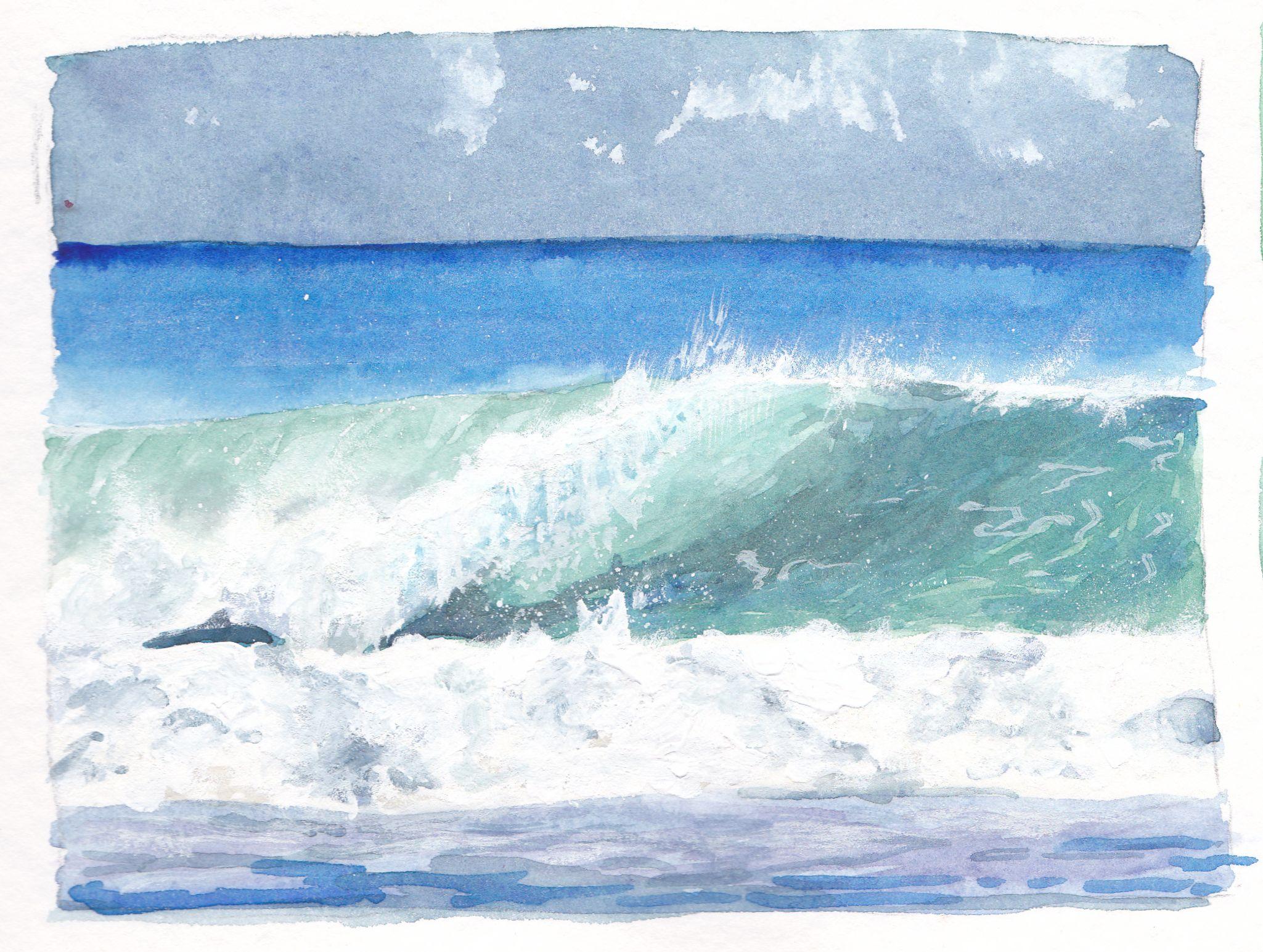 Die Welle. Definitiv keine ostfriesische Welle, die wäre nämlich grün-braun.