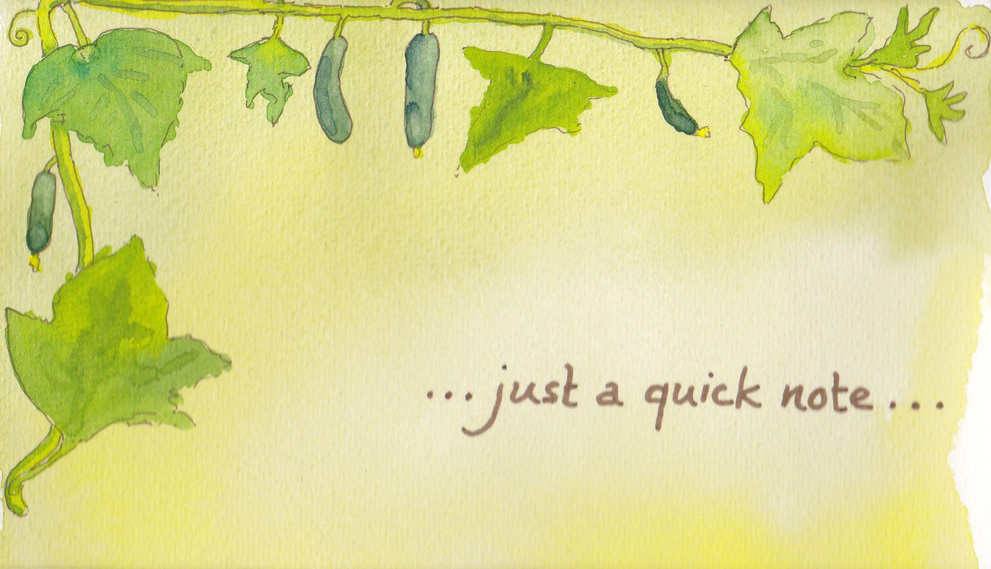 Für den Gurkenfreund/ For the cucumber grower