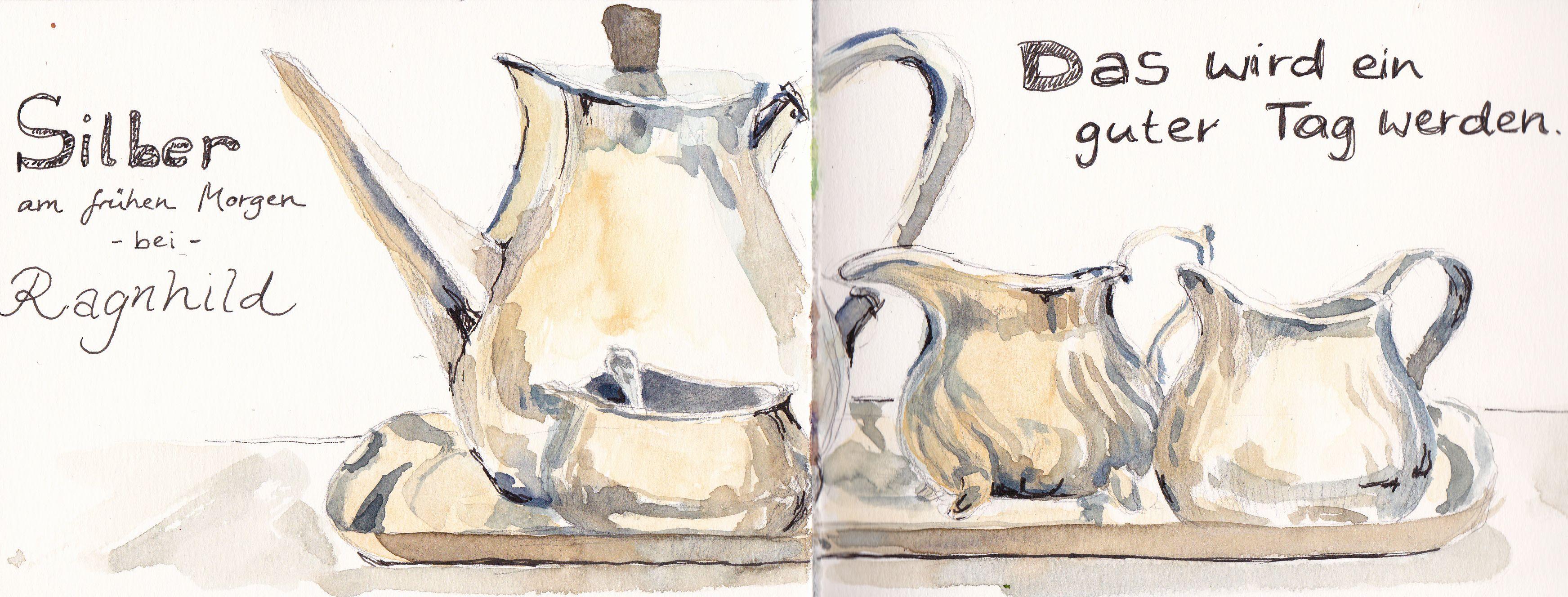 Silver tea service | Silbernes Teegeschirr