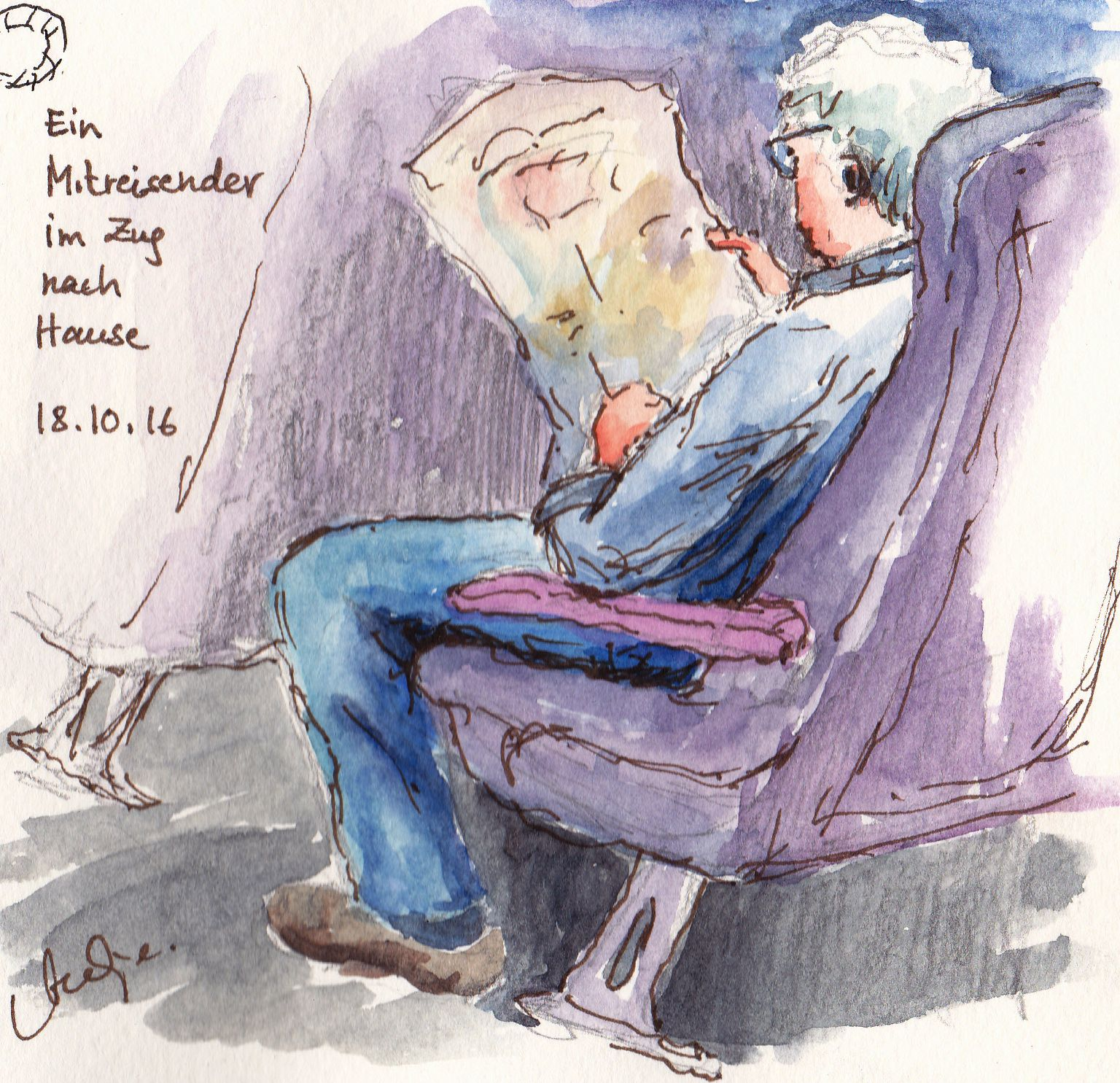 On painting on the train (English only)
