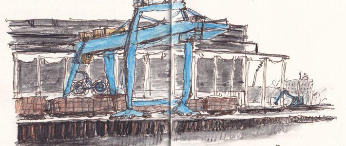Crane at Brandenburg steelworks | Verladekran im alten Stahlwerk Brandenburg