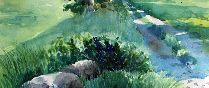 Plein air watercolour painting | Freilicht-Aquarellmalerei