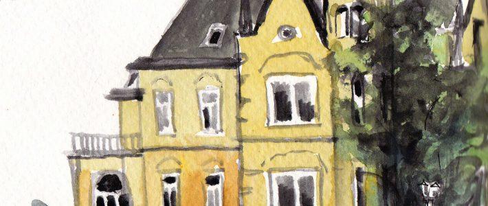 Ink sketches with watercolour | Tuscheskizzen mit Aquarellfarben