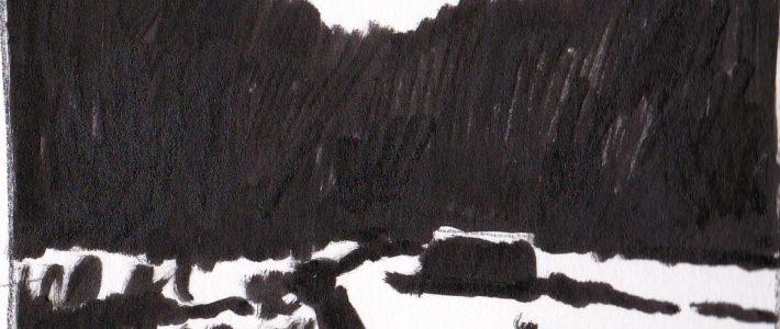 Das Kalte Tal: Notan und Tonwertskizze
