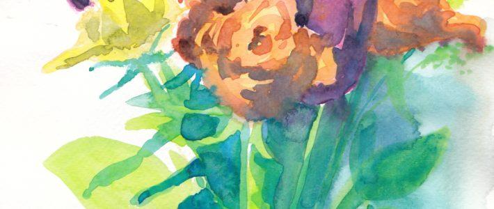 Angedeutete Blumen