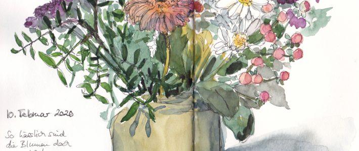 Noch mehr Blumen und eine Einsicht