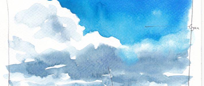 Blautöne für Wolken