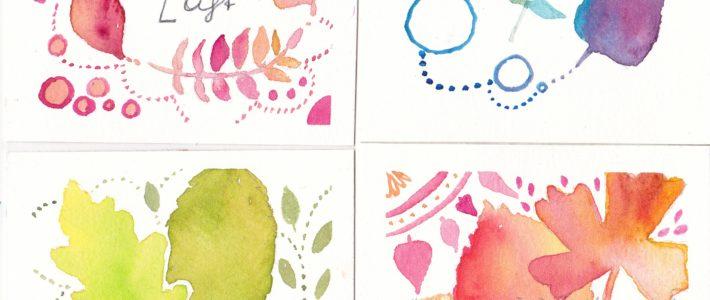 Kleine Miniserie mit Herbstblättern