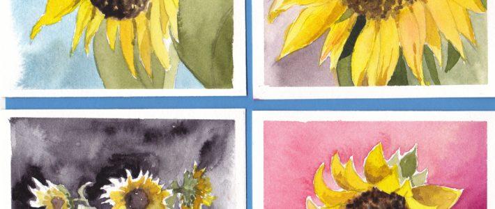 Miniserie Nr. 2: Sonnenblumen