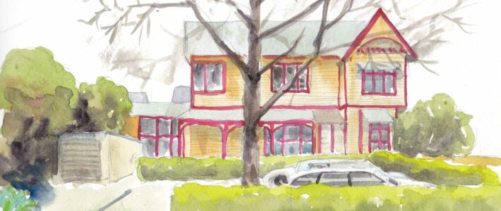 Virtuelles Urban Sketching in Christchurch, Neuseeland am 7.4.21 um 19:30