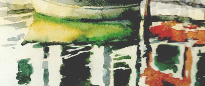 Wie malt man Spiegelungen im Wasser?